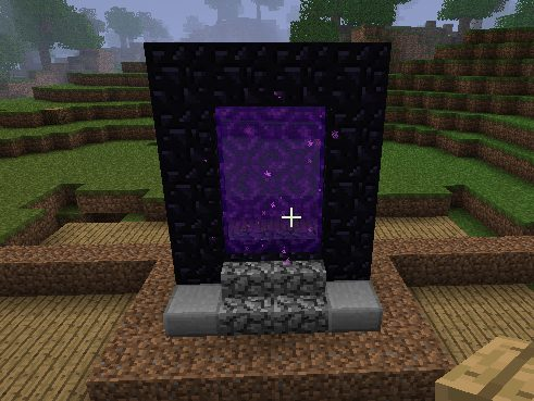 Nether Portal Mod - Minecraft. Скриншот